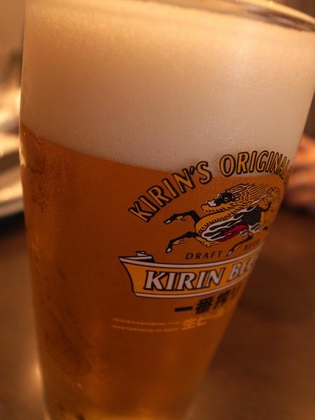 ビールはキリンでした