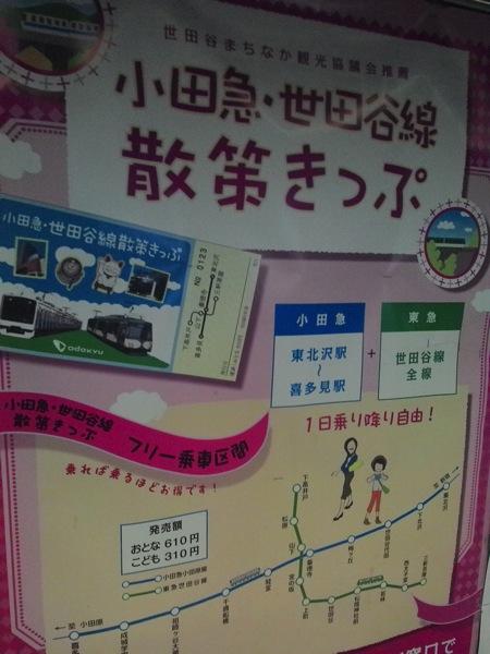 小田急・世田谷線散策きっぷ
