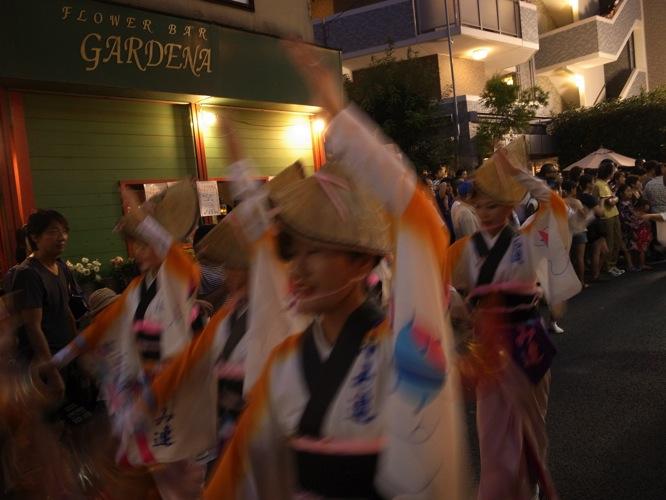 2015年の下北沢一番街 阿波踊り